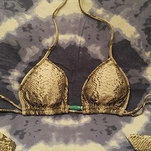 Vix snakeskin bikini top